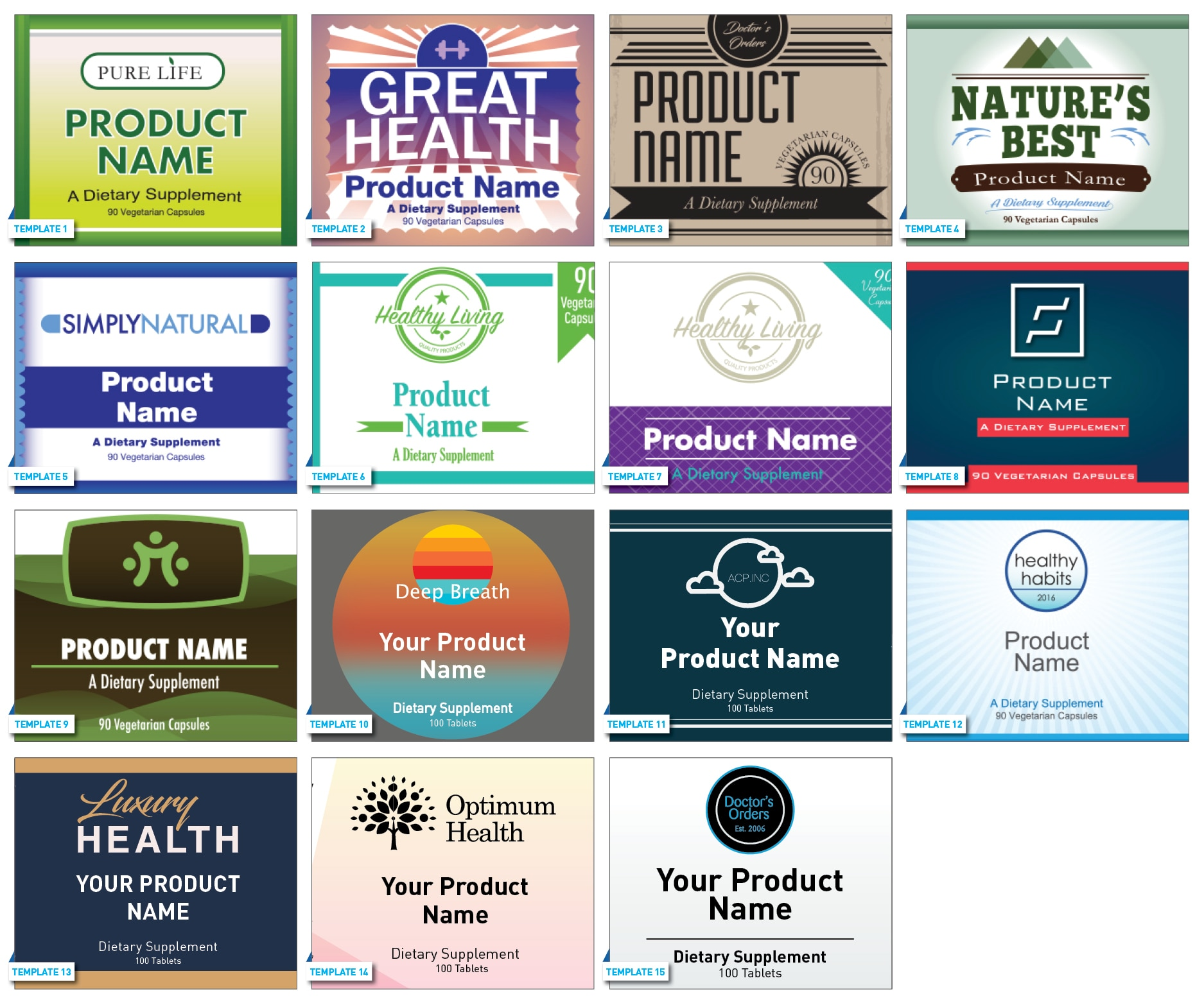 Private Label Template Gallery